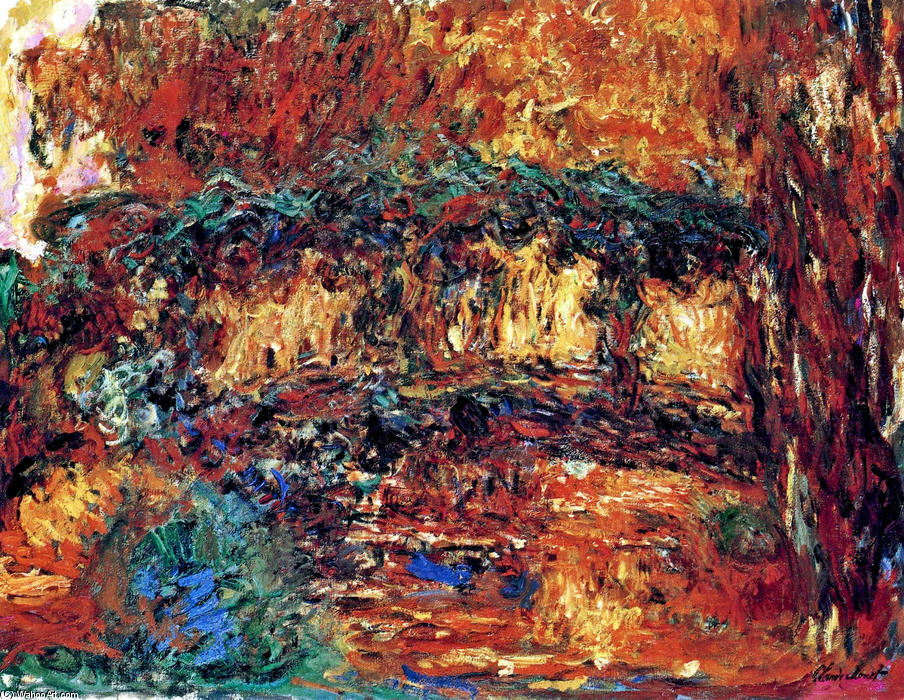 The Japanese Bridge 7, 1924 by Claude Monet (1840-1926, France)