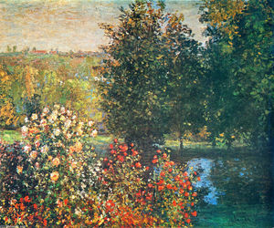Claude Monet - Roses in the Hoshede`s Garden at Montregon