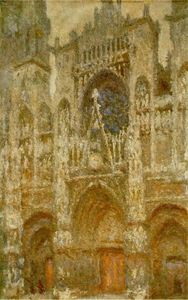 Claude Monet - Rouen Cathedral,The Gate, Grey Weather