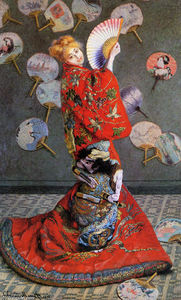 Claude Monet - Japan-s (Camille Monet in Japanese Costume)