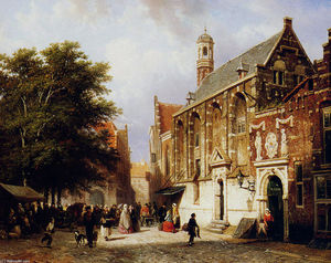 Cornelis Springer - City view
