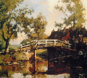 Cornelis Vreedenburgh - Bridge Near Estate Linschoten
