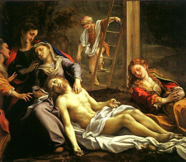 Deposition, Oil On Canvas by Antonio Allegri Da Correggio (1489-1534, Italy)