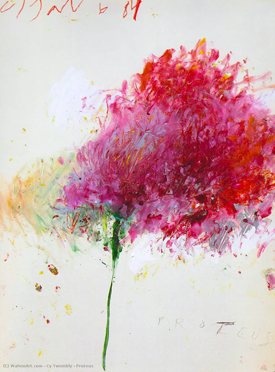 order painting copy : proteus, 1984 by cy twombly (1928-2011, united ...