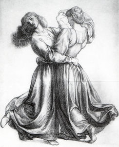 Dante Gabriel Rossetti - The Bower Meadow Study (Study of Dancing Girls)