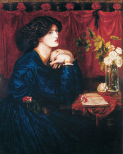 Dante Gabriel Rossetti - Jane Morris (The Blue Silk Dress)