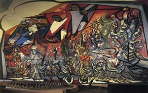 David Alfaro Siqueiros - The March of Humanity