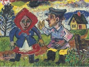 David Davidovich Burliuk - Peasant couple