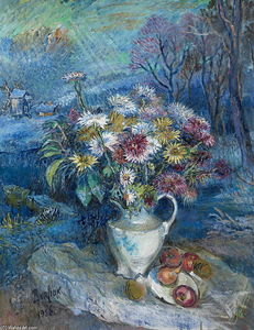 David Davidovich Burliuk - Flowers in white vase