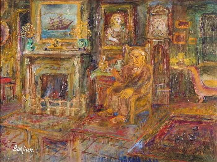 Walkowitz at Home by David Davidovich Burliuk (1882-1967) | Oil Painting | WahooArt.com