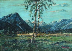 David Burliuk - Mountain Landscape