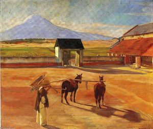 Diego Rivera - La Era (The Threshing Floor) 1904 (oil on canvas)