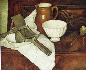 Diego Rivera - Still Life with Ricer also known as Still Life with Garlic Press