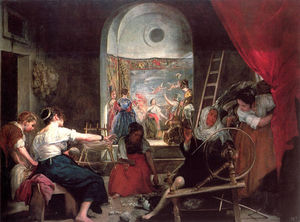 Diego Velazquez - The Fable of Arachne, or The Spinners