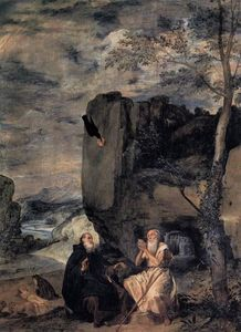 Diego Velazquez - St. Anthony the Abbot and St. Paul the First Hermit
