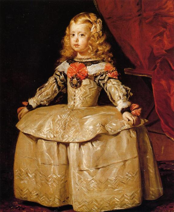 Portrait of the Infanta Margarita Aged Five, 1656 by Diego Velazquez (1599-1660, Spain) | Oil Painting | WahooArt.com