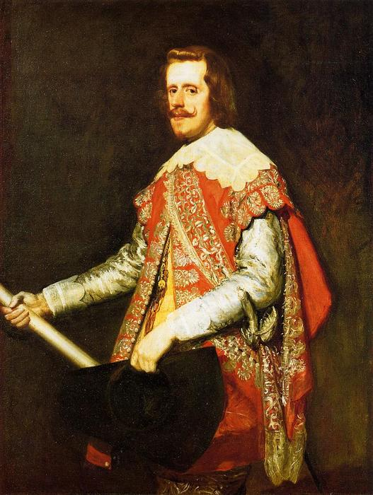 Philip IV, King of Spain, Oil On Canvas by Diego Velazquez (1599-1660, Spain)