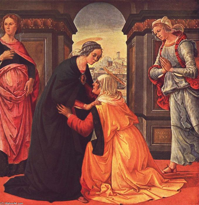 The Visitation, 1491 by Domenico Ghirlandaio (1449-1494, Italy) | Museum Quality Reproductions | WahooArt.com