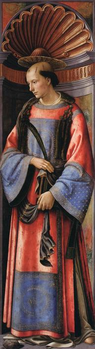 St. Stephen the Martyr, Tempera by Domenico Ghirlandaio (1449-1494, Italy)