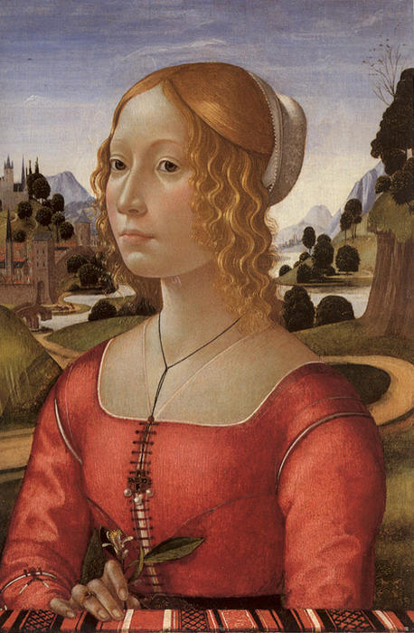 Portrait of a Lady, 1490 by Domenico Ghirlandaio (1449-1494, Italy) | Museum Quality Reproductions | WahooArt.com