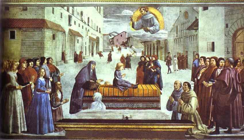 The Miracle of a Child, 1486 by Domenico Ghirlandaio (1449-1494, Italy) | WahooArt.com