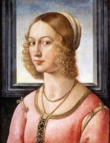 Portrait of Giovanna Tornabuoni, 1488 by Domenico Ghirlandaio (1449-1494, Italy) | Painting Copy | WahooArt.com