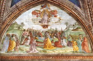 Domenico Ghirlandaio - Death and Assumption of the Virgin