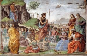 Domenico Ghirlandaio - Preaching of St John the Baptist