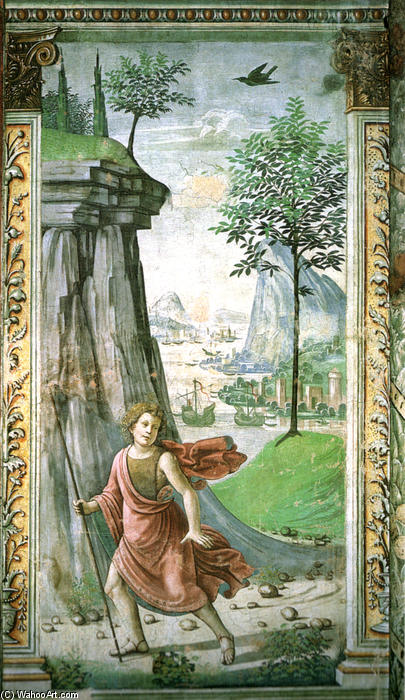 St. John the Baptist in the Desert, Frescoes by Domenico Ghirlandaio (1449-1494, Italy)