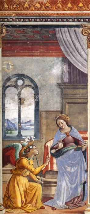 The Annunciation, 1490 by Domenico Ghirlandaio (1449-1494, Italy) | Museum Quality Reproductions | WahooArt.com