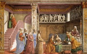 Domenico Ghirlandaio - The Birth of Mary