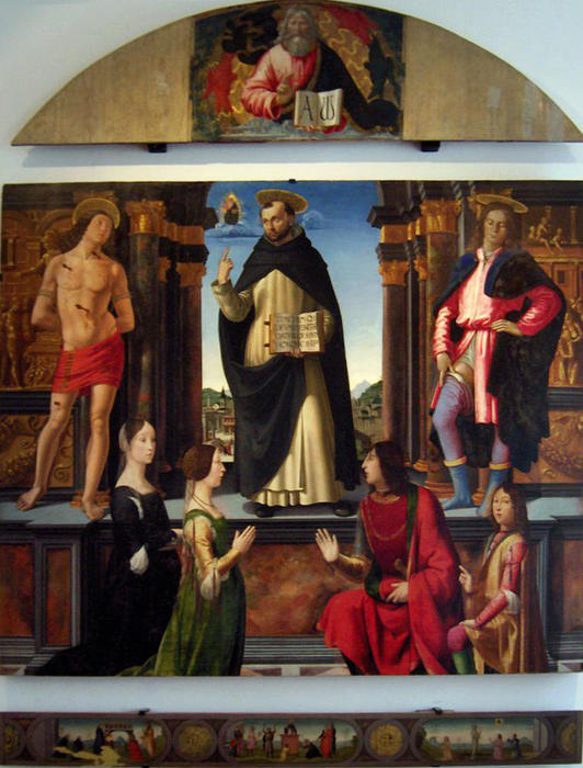 Altarpiece of St. Vincent Ferrer by Domenico Ghirlandaio (1449-1494, Italy) | Famous Paintings Reproductions | WahooArt.com
