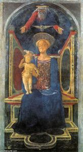 Buy Museum Art Reproductions | Madonna and Child, 1435 by Domenico Veneziano (1410-1461, Italy) | WahooArt.com