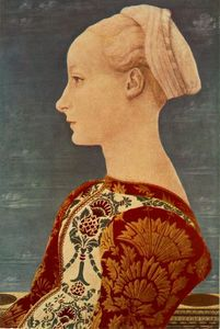 Order Paintings Reproductions | Portrait of a Young Woman by Domenico Veneziano (1410-1461, Italy) | WahooArt.com