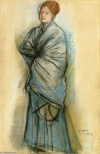 Edgar Degas - Woman in Blue (Portrait of Mlle. Helene Rouart)