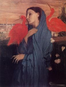 Edgar Degas - Woman on a Terrace (Young Woman and Ibis)