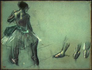 Edgar Degas - Dancer Seen from Behind and 3 Studies of Feet