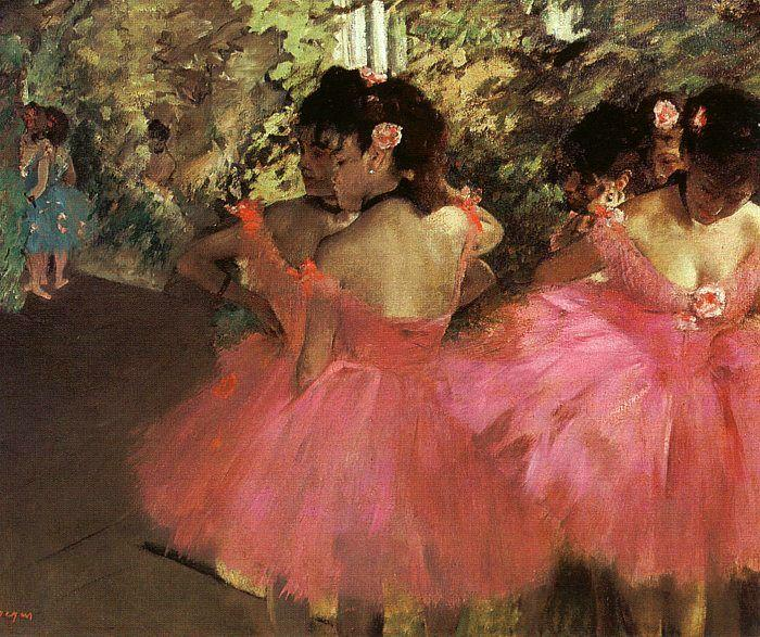Dancers in Pink, 1885 by Edgar Degas (1834-1917, France) | WahooArt.com