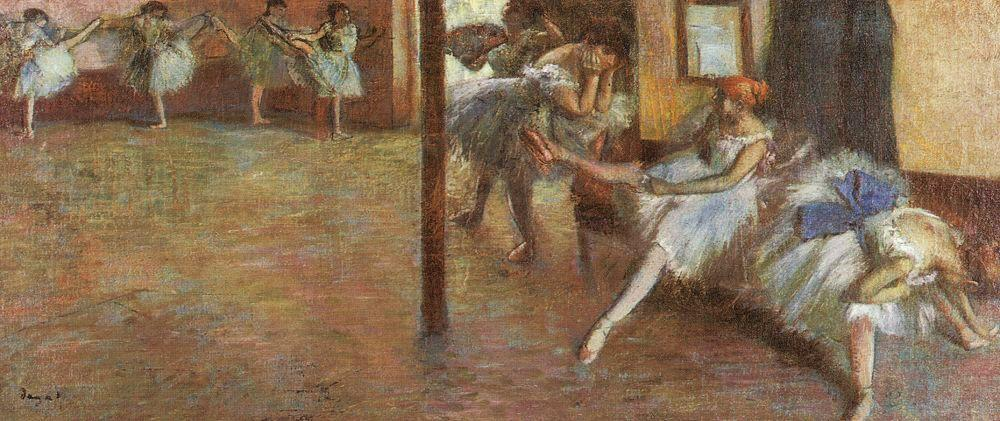 Ballet Rehearsal, 1891 by Edgar Degas (1834-1917, France) | Oil Painting | WahooArt.com