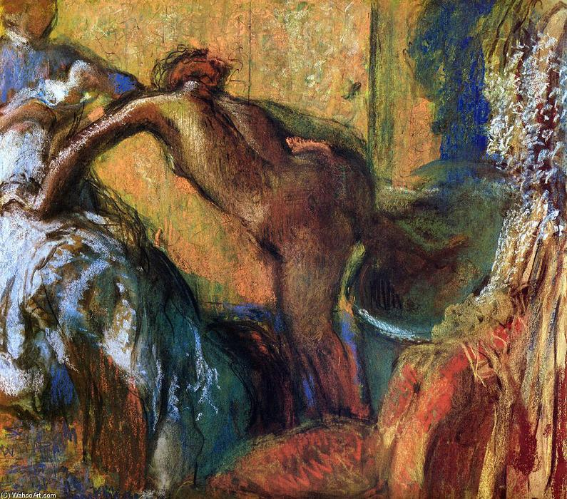 Order Art Reproductions | After the Bath (10), 1898 by Edgar Degas (1834-1917, France) | WahooArt.com