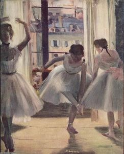 Edgar Degas - Three Dancers in an Exercise Hall