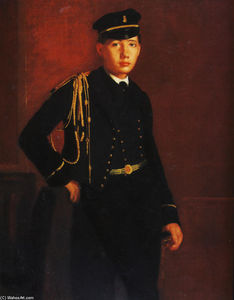 Edgar Degas - Achille de Gas as a Naval Cadet (detail)