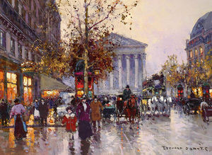 Edouard Cortes - The View From Madeleine La Rue Royale
