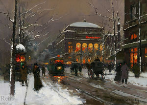 Edouard Cortes - Chatelet in Winter