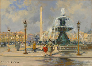 Edouard Cortes - Fountain on Place de la Concorde