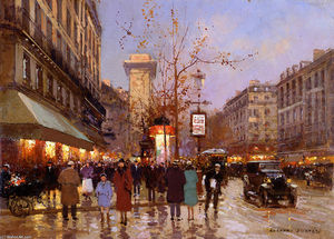 Place du tertre by edouard cortes 1882 1969 france - Edouard denis envers du decor ...