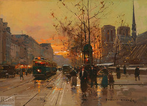 Edouard Cortes - The platform of the Tournelle, Notre Dame