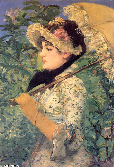 Spring (Study of Jeanne Demarsy), Aquatint by Edouard Manet (1832-1883, France)