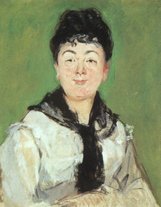 Edouard Manet - Portrait of a lady with a black fichu
