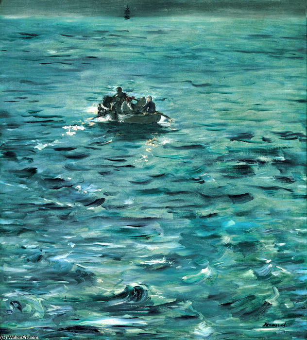 Rochefort's Escape, Oil On Canvas by Edouard Manet (1832-1883, France)